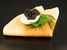 black caviar eggs