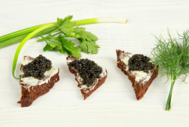 sturgeon-caviar-bread